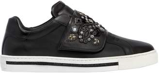 Rene Caovilla 20mm Swarovski Leather Sneakers