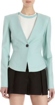 ICB One-Button Peplum Back Suit Jacket