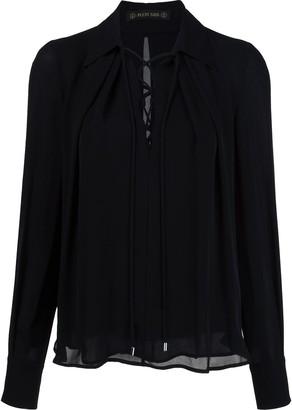 Plein Sud Jeans lace-up neck blouse