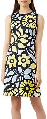 Hobbs Elinor Shift Dress, Yellow/Multi