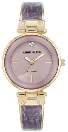 Anne KleinAnne Klein Diamond & Mother-Of-Pearl Analog Watch