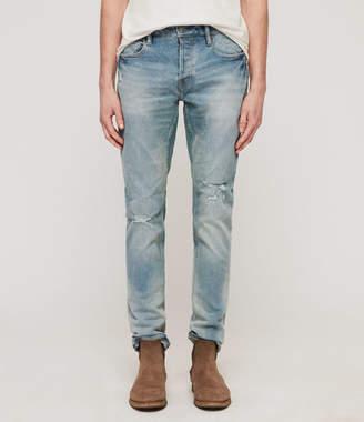 AllSaints Rex Damaged Skinny Jeans