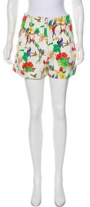 Etro Printed High-Rise Shorts