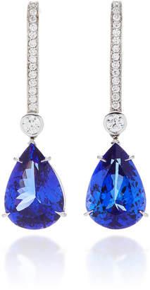ara Vartanian 18K White Gold Tanzanite Earrings