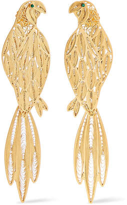 Mallarino Pepa Gold-tone Emerald Earrings