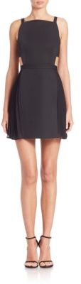 BCBGMAXAZRIA Brielle Open-Back Side-Pleated Dress $298 thestylecure.com