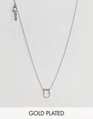 Whistles Mini Horseshoe Drop Necklace