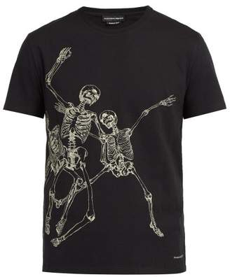 Alexander McQueen Dancing Skeleton Print T Shirt - Mens - Black