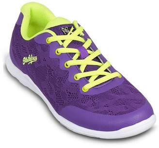 KR Strikeforce Bowling Shoes KR Strikeforce Womens Lace Bowling Shoes- Purple/Yellow 6