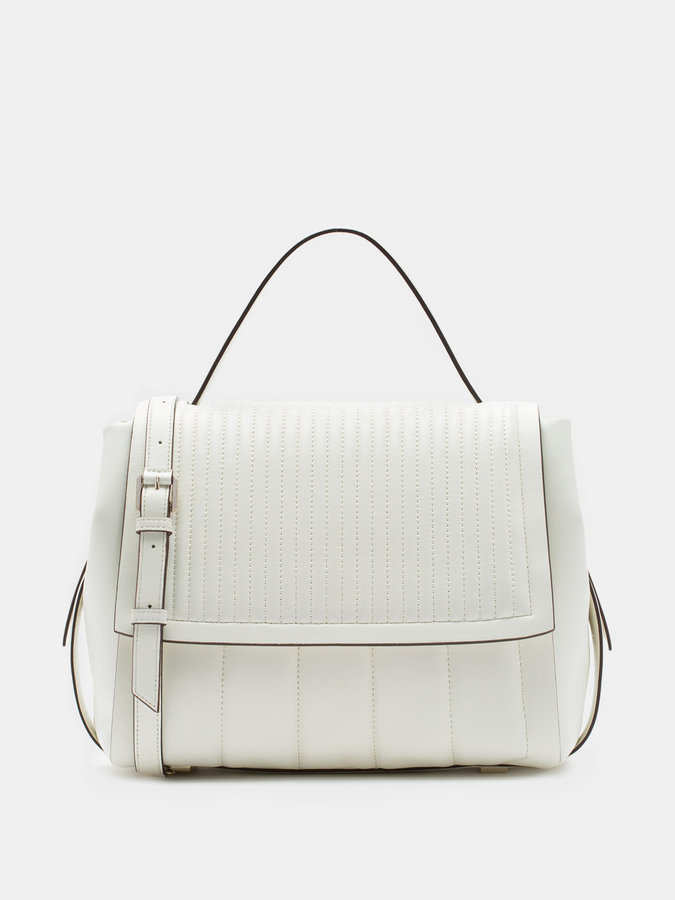 DKNYQuilted Lamb Nappa Pinstripe Flap Bag