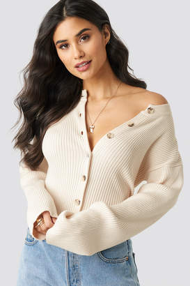 Paige Xle The Label Rib Knitted Button Top Ivory