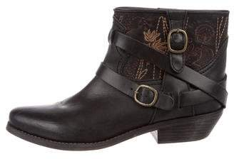 See by Chloe Leather Embroidered Ankle Boots