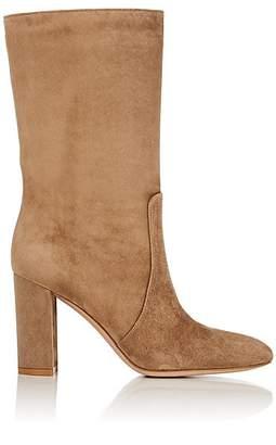 Gianvito Rossi Women's Suede Mid-Calf Boots - Lt. brown