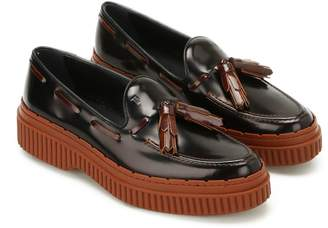 Tod's Two-tone Leather Tassel Loafers