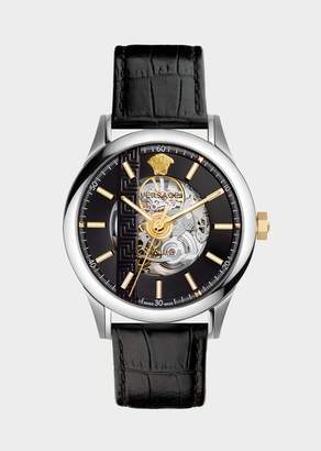 Versace Black Aiakos Automatic Watch