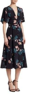 Nicholas Piper Button-Front Silk Dress