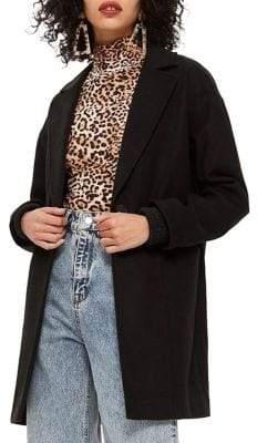 Topshop PETITE Marla Relaxed Crombie Coat