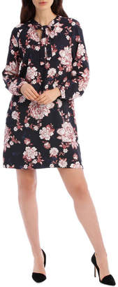 Printed Floral Shift Dress