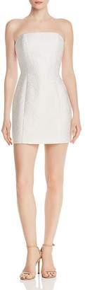 Amanda Uprichard Mandy Embroidered-Floral Strapless Dress