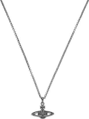 Vivienne Westwood Men's Mini Bass Orb Pendant Chain Necklace -Gunmetal