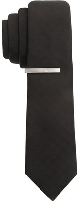 Apt. 9 Men's Extra-Slim Tipton Grid Tie & Bar Set