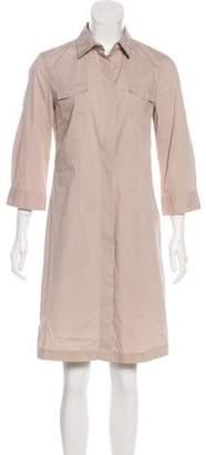 0039 Italy Long Sleeve Knee-Length Dress