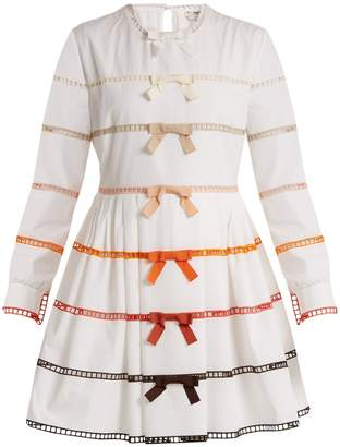 FENDI Long-sleeved bow-trimmed cotton dress $2,850 thestylecure.com