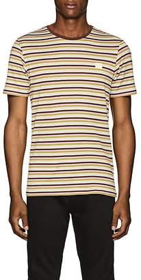 Acne Studios Men's Striped Cotton T-Shirt