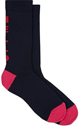 """Paul Smith Men's """"Hello"""" Intarsia-Knit Mid-Calf Socks"""