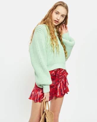 Topshop Floral Print Mini Skirt