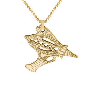 CarterGore - Gold Ray Gun Pendant Necklace