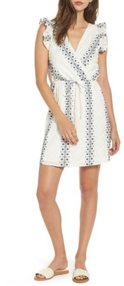 Women's Everly Embroidered Wrap Dress $49 thestylecure.com