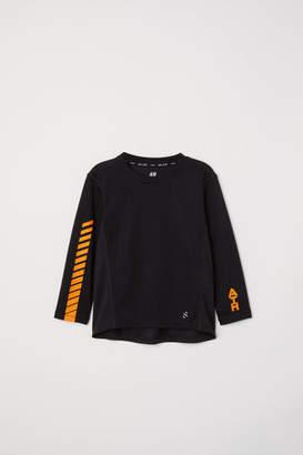 H&M Long-sleeved Sports Shirt - Black
