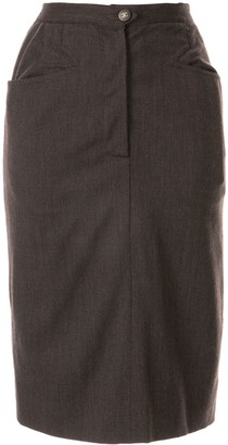 Chanel Pre-Owned slim-fit knee-length skirt