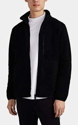 Theory Men's Wool-Blend Fleece Zip-Front Jacket - Black