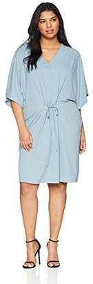 Junarose Women's Jrmalou 2/4 Sl Above Knee Dress - S Ashley Blue, (Size: Oversize M)