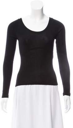 Balenciaga Semi-Sheer Virgin Wool Sweater