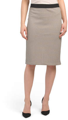 Jacquard Pencil Skirt With Back Zip