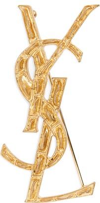 Saint Laurent Yves  Opyum Monogram Brooch