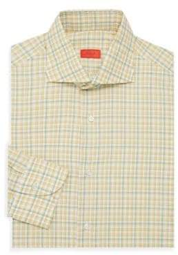 Isaia Checkered Dress Shirt