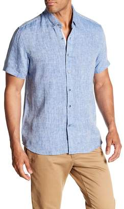 Report Collection Short Sleeve Slim Fit Linen Shirt