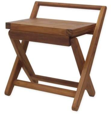 Bed Bath & Beyond Aquateak Teak Wood Foldable Seat