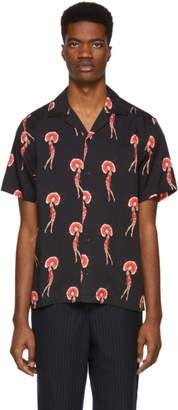 Saturdays NYC Black Flapper Canty Short Sleeve Shirt