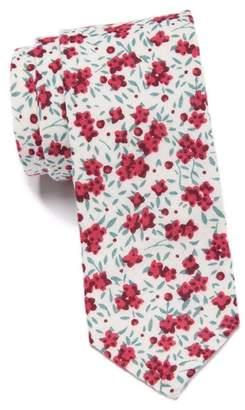 Original Penguin Luther Floral Skinny Tie