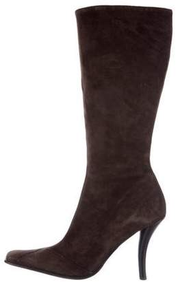 Cesare Paciotti Knee-High Suede Boots
