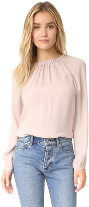 Rebecca Taylor Long Sleeve Georgette Ruffle Top $275 thestylecure.com