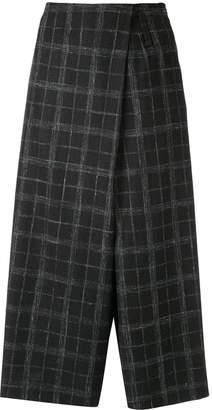 Lorena Antoniazzi wrap-style check trousers