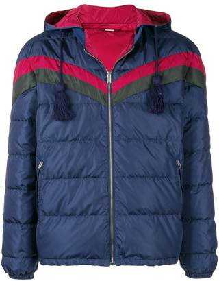 Gucci chevron stripe padded jacket