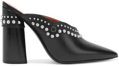 3.1 Phillip Lim 3.1 Phillip Lim - Patsy Studded Leather Mules - Black