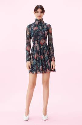 Rebecca Taylor La Vie Faded Garden Mesh Dress